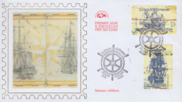 Enveloppe  FDC  1er Jour  FRANCE   Bateaux  Célébres   2008 - FDC