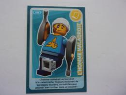 Carte LEGO AUCHAN CREE TON MONDE N°106 L'homme Maladroit  Blessé Canne - Autres Collections