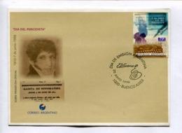 DIA DEL PERIODISTA - GAZETA DE BUENOS AIRES. ARGENTINA 1998 ENVELOPE FDC PRIMER DIA -LILHU - Berufe