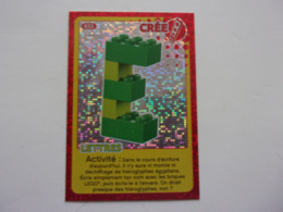 Carte LEGO AUCHAN CREE TON MONDE N°33 Lettre E - Autres Collections