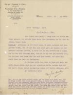 Facture  Brasserie México 1914 Entête : Juan Dosse Y Cia Représentant De Casas Extranjeras Rosheim - Etats-Unis