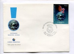 CUIDEMOS NUESTRO OZONO. ARGENTINA 1998 ENVELOPE FDC PRIMER DIA -LILHU - Protección Del Medio Ambiente Y Del Clima