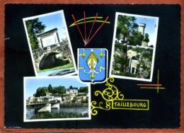 17   CPSM  TAILLEBOURG      Multivues Avec Blason    1971       Bon état (petit Accroc à Gauche) - Frankrijk