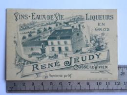 (53) Mayenne - COSSE LE VIVIEN - Carte Commerciale Vins, Eaux De Vie René JEUDY  Représenté Par... - France