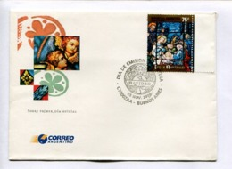 FELIZ NAVIDAD - MERRY CHRISTMAS - JOYEUX NOËL. ARGENTINA 2000 ENVELOPE FDC PRIMER DIA -LILHU - Navidad