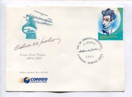ENRIQUE SANTOS DISCEPOLO 1901-1951 - TANGO MUSIC. ARGENTINA 2001 ENVELOPE FDC PRIMER DIA -LILHU - Celebridades