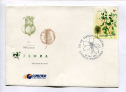 MERCOSUR - FLORA, PALO SANTO. ARGENTINA 2001 ENVELOPE FDC PRIMER DIA -LILHU - Árboles