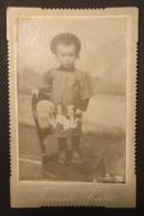 """0720 """"RITRATTO DI BAMBINO IN ABITI D'INIZIO DEL XX SECOLO - 1911"""" FOTOGRAFIA ORIGINALE - Persone Anonimi"""