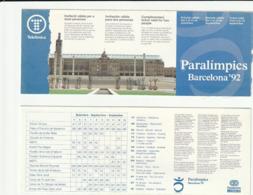 TICKET - ENTRADA / PARALIMPICS BARCELONA'92 - Tickets - Entradas
