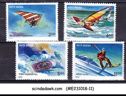 INDIA - 1992 ADVENTURE SPORTS - SG#1499-1502 - 4V MINT NH - Stamps