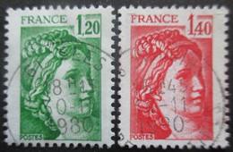 FRANCE N°2101 Et 2102 Oblitérés - Timbres
