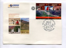 QUEBRADA DE HUMAHUACA - SITIO CULTURAL PATRIMONIO MUNDIAL DE LA UNESCO. ARGENTINA 2004 ENVELOPE FDC PRIMER DIA -LILHU - UNESCO