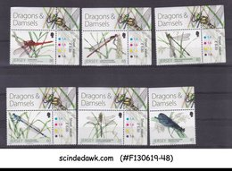 JERSEY - 2013 DRAGONFLY & DAMSELFLIES - TRAFFIC LIGHT 6V MNH - Insects