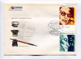 MERCOSUR - ESCRITORES CLÁSICOS. SILVINA OCAMPO, EZEQUIEL MARTINEZ ESTRADA. ARGENTINA 2005 ENVELOPE FDC PRIMER DIA -LILHU - Escritores