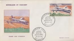 Enveloppe  FDC  1er  Jour    DAHOMEY   AIR   AFRIQUE   1963 - Bénin – Dahomey (1960-...)