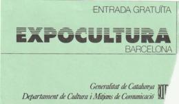 TICKET - ENTRADA / EXPOCULTURA BARCELONA - Any? - Tickets - Entradas