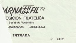 TICKET - ENTRADA / BARNAFIL 79 - BARCELONA - Tickets - Entradas