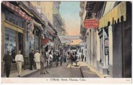 POS-1124 CUBA POSTCARD UNUSED CIRCA 1910 HAVANA O'RELLY TRADE STREET, CALLE DE COMERCIO HABANA. - Cuba
