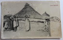CPA Afrique Chief Shilouk Tampon Port Soudan Villageois Armés De Lance Correspondance Militaire - Sudán