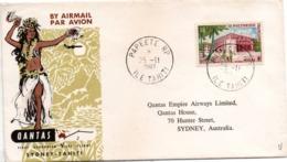 1er Vol Sydney Tahiti 1963 - Qantas - Inaugural Flight Erstflug - Papeete - Polynésie Française