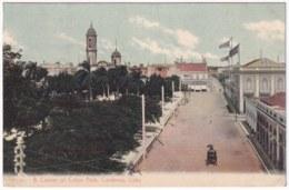 POS-1152 CUBA POSTCARD UNUSED CIRCA 1910 COLON PARK CARDENAS MATANZAS, ESQUINA PARQUE DE COLON EN CARDENAS - Cuba