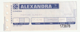 TICKET - ENTRADA / BARCELONA CINESA ALEXANDRA 3 SALAS 1988 - Tickets - Entradas