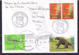 Argentina - 2014 - Dinosaures - Animaux Préhistoriques - Fossiles - Mammifères Cénozoïques - Timbres Divers - Timbres