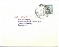 Baghdad Vers Allemagne 1954 Lettre, Cover - Irak
