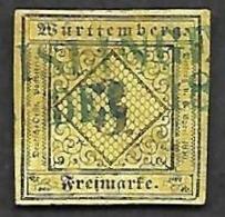 WURTEMBERG  1851-  YT 2  -  Oblitéré - Wurtemberg