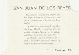 TICKET - ENTRADA / SAN JUAN DE LOS REYES - MONASTERIO  ... Año 198¿? - Tickets - Entradas
