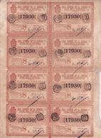 LOT-404 CUBA SPAIN (LG1812) 1844 COMPLETE SHEET LOTTERY SORTEO 44. LOTERIA - Lottery Tickets