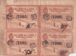 LOT-406 CUBA SPAIN (LG1814) 1844 LOTTERY SORTEO 44. MEDIO BILLETE DE LOTERIA - Lottery Tickets