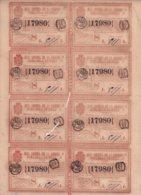 LOT-407 CUBA SPAIN (LG1815) 1844 COMPLETE SHEET LOTTERY SORTEO 44. LOTERIA. - Lottery Tickets