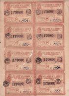 LOT-408 CUBA SPAIN (LG1816) 1844 COMPLETE SHEET LOTTERY SORTEO 44. LOTERIA. - Lottery Tickets