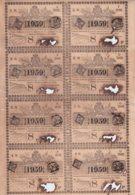 LOT-409 CUBA SPAIN (LG1817) 1844 COMPLETE SHEET LOTTERY SORTEO 389. LOTERIA - Lottery Tickets