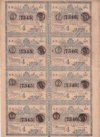 LOT-410 CUBA SPAIN (LG1818) 1844 SHEET LOTTERY LOTERIA SORTEO EMPEDRADO CALLES DE LA HABANA - Lottery Tickets