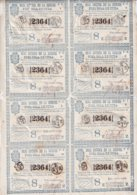 LOT-412 CUBA SPAIN (LG1820) 1844 SHEET LOTTERY LOTERIA SORTEO EMPEDRADO CALLES DE LA HABANA. - Lottery Tickets