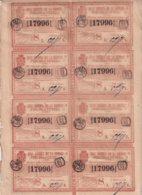 LOT-413 CUBA SPAIN (LG1821) 1844 COMPLETE SHEET LOTTERY SORTEO 44. LOTERIA - Lottery Tickets