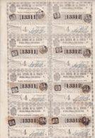 LOT-414 CUBA SPAIN (LG1822) 1846 COMPLETE SHEET LOTTERY SORTEO 409. LOTERIA - Lottery Tickets