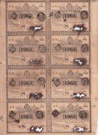 LOT-415 CUBA SPAIN (LG1823) 1844 COMPLETE SHEET LOTTERY SORTEO 389. LOTERIA. - Lottery Tickets
