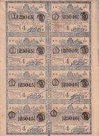 LOT-416 CUBA SPAIN (LG1824) 1844 COMPLETE SHEET LOTTERY SORTEO 387. LOTERIA. - Lottery Tickets