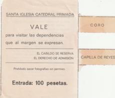 TICKET - ENTRADA / SANTA IGLESIA CATEDRAL PRIMADA ... Año 198¿? - Tickets - Entradas