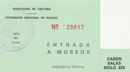 TICKET - ENTRADA / PATRONATO NACIONAL DE MUSEOS - MUSEO DEL  ... Año 198¿? - Tickets - Entradas