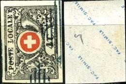 Suisse, Postes Locales, N°5, Reproduction - 1843-1852 Timbres Cantonaux Et  Fédéraux