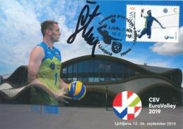 Volleyball European Championship 2019 - Hand-signed Maximum Card - Slovénie