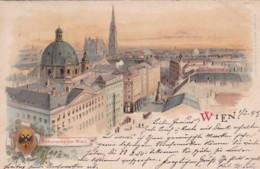 27962Wien, Panorama Von Wien (Briefmarke 1899) - Vienna