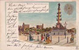 27963Wien, Tegetthof Monument (Briefmarke 1900) - Vienna