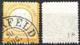 Allemagne, Empire, Deutsche Reich, Petit écusson, N°3a Oblitéré, Qualité Beau - Oblitérés