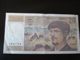 20 FRANCS DEBUSSY DE 1986 - SERIE S.017 - 20 F 1980-1997 ''Debussy''