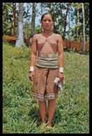 "MALASIA - SARAWAK -"" A Young Sea Dayak Beauty Pose In The Rubber Plantation.(Ed. S. W. Nº 406) Carte Postale - Malaysia"